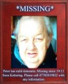 PETER MISSING PERSON WITH DEMENTIA from NN16 (Central) - click to find out more