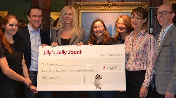Jilly's Jolly Jaunt cheque presentation
